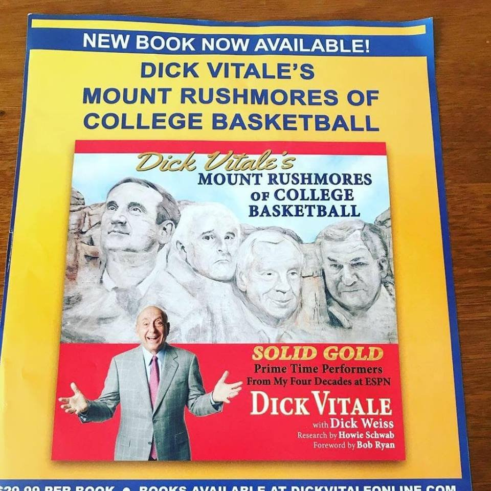 Dickie V's Mount Rushmore of coaches frames his new book - Suncoast News  and Weather Sarasota Manatee & Charlotte